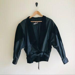 Make me an Offer- Vintage black leather jacket